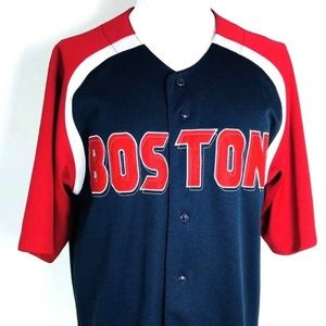 Dynasty Button up Jersey Shirt Sz L Boston Red sox